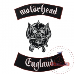 Patch ricamata Mothorehad England in tre pezzi