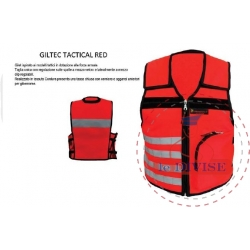 GILTEC TACTICAL RED Gilet